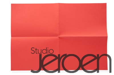 Folded red paper